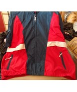 Mens Vintage size XL red, white and blue windbreaker jacket by Woolrich - $17.50