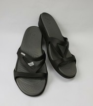 Crocs Womens Shoes Sandals Black Size US 11 - $39.55