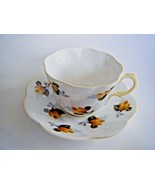Rosina Fine Bone China Tea Cup & Saucer Yellow Roses Pattern Made In Eng... - $14.80