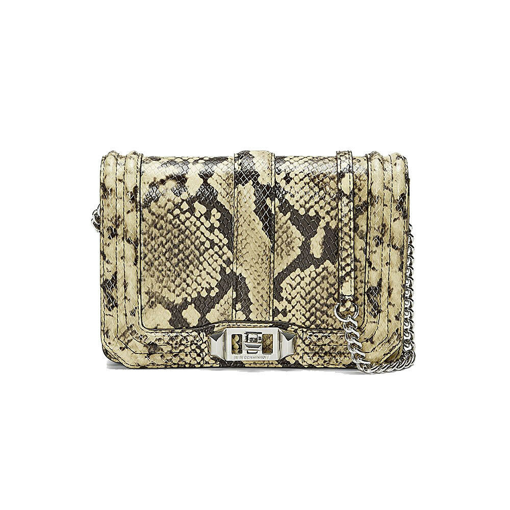 Primary image for Rebecca Minkoff Butter Python Snake Leather Small Love Crossbody Bag NWT
