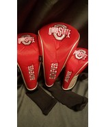 Ohio State Buckeyes Golf Club 3 Piece Headcover Set NCAA Head Cover Sock - $30.00