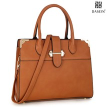 DASEIN Designer Tote Purse Satchel Handbag Faux Leather Shoulder Bag Top... - $45.99