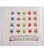 """>>> 80 <<< OWL NAIL DECALS; 5 different designs; 3/8"""" X 3/8""""; by NAILTHINS - $2.96"""