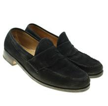 ALLEN EDMONDS Dover Mens Black Suede Leather Penny Loafers Shoes Sz 8.5 D - $68.30