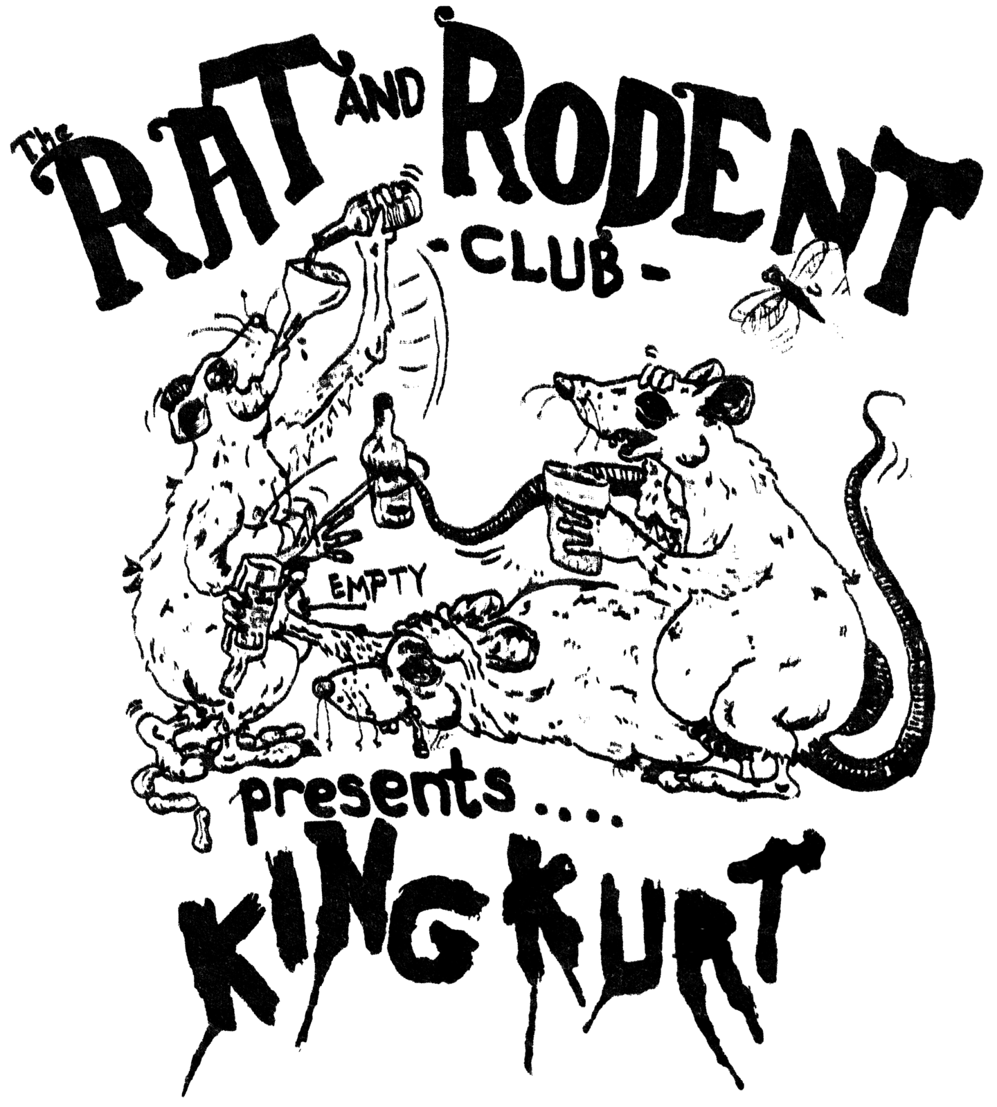 Rat & Rodent Club T-shirt 100% cotton rockabilly cramps psychobilly king kurt