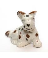 Schnauzer Dog Figurine Ceramic Porcelain R Japan Vintage  - £7.24 GBP