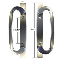 """Glass Patio Door Dummy Handle Set Mortise Type Satin Nickel 3-15/16"""" Scr... - $42.52"""