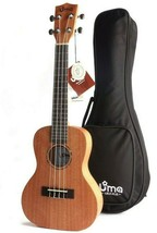 Uma UK-05SC Solid Mahogany Top concert ukulele with 20mm Deluxe Gig Bag - $90.08
