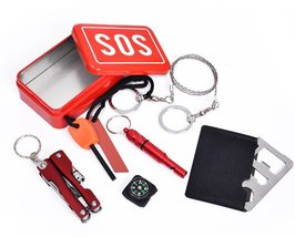Pocket Survival Kit Outdoor Mini Emergency Survival - $12.50