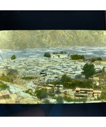 Vtg Magic Lantern Glass Slide Photo Hand Color Birds Eye View Of Batang ... - $12.30