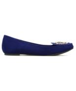NEW ShoeDazzle Migdalia Navy Flats w/ Jewels US Size 8 - $25.55