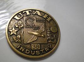 Vintage Utah Souvenir Bronze Medallion medal - $19.95