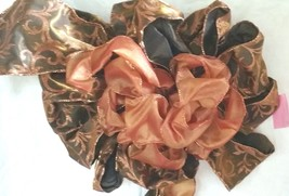 Olive Green with Orange Topped with Orange Bow 2 bows for one price - $16.83