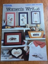 Leisure Arts Women's Writers Leaflet Figi Counted Cross Stitch Funny - $5.90