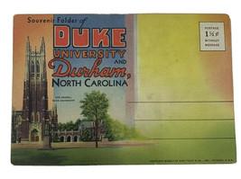 DUKE University & DURHAM, North Carolina Postcard Souvenir Folder - Curt... - $7.66