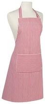 Now Designs Basic Cotton Kitchen Chef's Apron, Narrow Stripe Red Print - $27.27