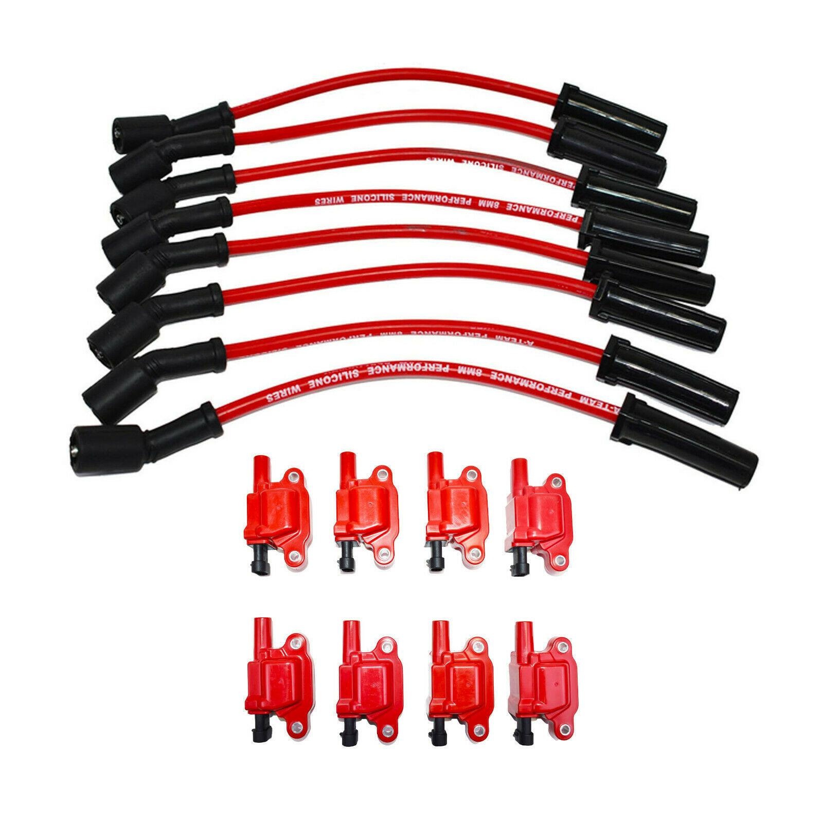 """Chevrolet GM GMC LS LSX LS1 LS2 LS3 LS6 8 Coils & 11"""" 8mm Spark Plug Wires D510C"""