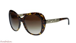 BVLGARI Women Square Sunglasses BV8199B 50413 Dark Havana/Brown Lens 55mm - $281.30