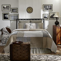 3-pc California King - ASHMONT Quilt Shams Set - Antique Strip Blocks -VHC Brand
