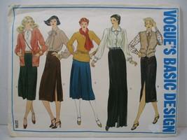 Vogue Pattern 2236 Miss Size 10 Skirts Slim Straight Pleats Long Evening... - $10.88