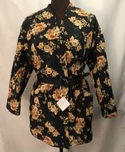 ZARA Women's Floral Print Puffer Coat/Jacket, Sz XS-S, Black Floral 8230... - $73.26