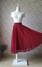 Women Full Long Elastic High Waisted Maxi Chiffon Long Skirt Beach Skirt NWT
