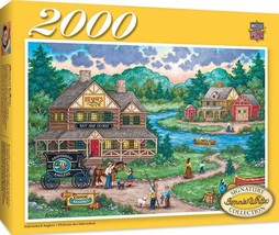 Adirondack Anglers Art Work by Bonnie White 2000pc Puzzle by Masterpieces #71968 - $42.99