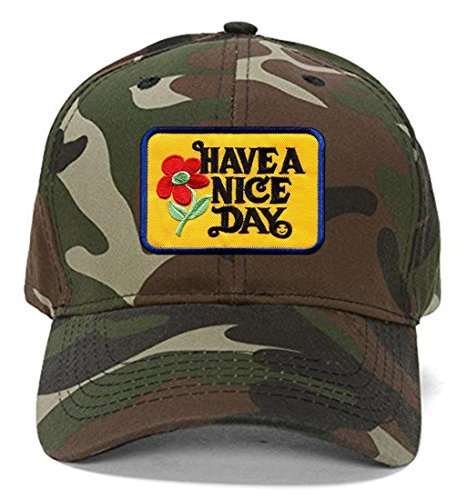 Have A Nice Day Hat - Camo Adjustable Cap