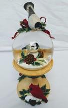 Lenox Winter Greetings Musical Bird Bath Snow Globe Joy to the World - $42.56