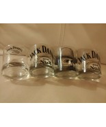 Jack Daniels Old No. 7 Tennessee Whiskey Rocks Hi-Ball Glasses Four (4) NEW - $19.75