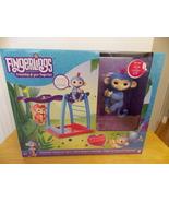 Fingerlings Liv Blue/Purple Hair Interactive Baby Monkey Bar Playset - $55.00