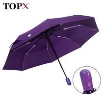 TopX® New Automatic Umbrella Rain Women Men 3Folding Light And Durable S... - $19.71