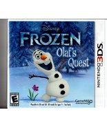 Disney Frozen: Olaf's Quest (Nintendo 3DS, 2013) Complete - Brand New - $10.00
