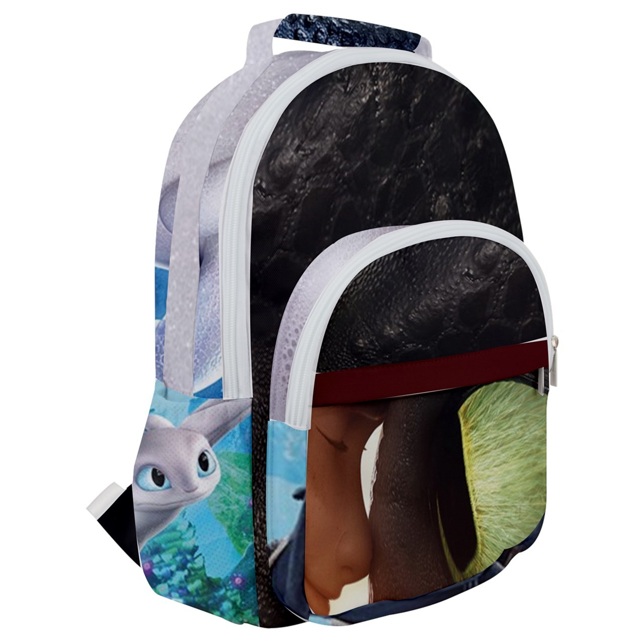 Primary image for Rounded Multi Pocket Backpack kids school bag train dragon eye dragons