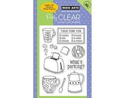 Hero Arts What's Perking Clear Stamp Set #CL416 - $11.99