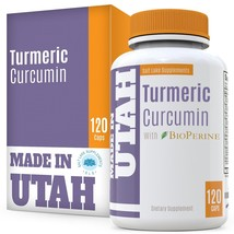 Salt Lake Supplements Turmeric Curcumin with Bioperine 95% Curcuminoids ... - $96.99