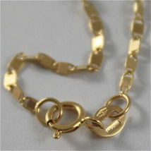 SOLID 18K YELLOW GOLD CHAIN NECKLACE, SQUARE OVAL LINK 15.75 IN. MADE IN ITALY image 4