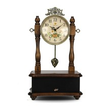 NEW! Clock & Bluetooth Retro Vintage Style Stereo Speaker System 2-in-1 US - $153.34