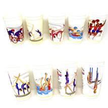 McDonalds 1988 U.S. USA Olympic Team Cups Complete Set of 9 Vintage Cup Plastic - $16.80