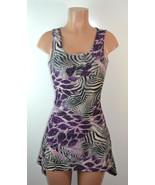 Sace Mix Animal Print Pointed Hem Corset Back Dress - $16.14