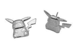 LOOK Pokemon Pikachu Real Sterling Silver 925 stud Earrings Jewelry Pocket Monst - $23.81