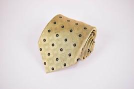 Robert Talbott Protocol Silk Neck Tie In Yellow With Black Floral Design - $19.20