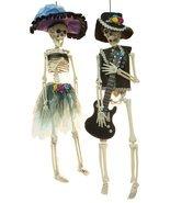 Halloween Decor - 17 Inch Tall Mariachi Skeleton Couple 2 Piece Set - £19.51 GBP