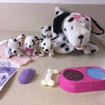Toy Biz PUPPY MAGIC Interactive Toy Dalmatian Mama Dog 3 Puppies W/ Acce... - $15.83
