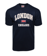 LE105NG Unisex London england Applique Embroidery T Shirt - $11.99