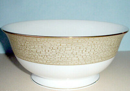 """Kate Spade June Lane Gold Serving Bowl Footed 8.5"""" New In Box - $139.90"""