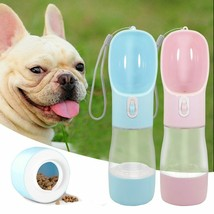 Water Bottle Pet Feeder Bowl For Small Large Dogs Portable Dog Travel Pu... - $15.66