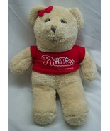 "PHILADELPHIA PHILLIES MLB BASEBALL GIRL TEDDY BEAR 12"" Plush STUFFED ANI... - $18.32"