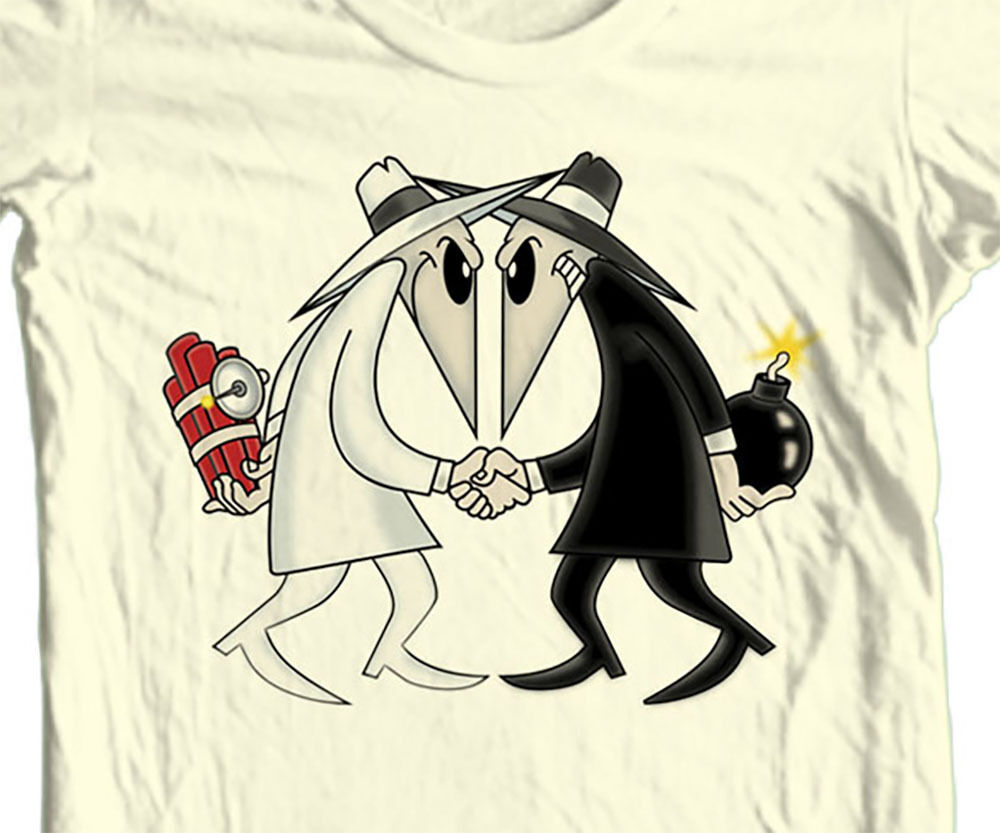 Spy vs Spy T-shirt  MAD retro 1980's tv comics 100% cotton graphic tee