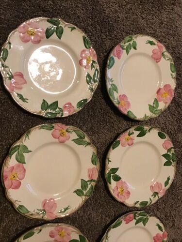 "Set Of 4 Franciscan Desert Rose Bread & Butter Dessert Plates 6.25"" TV stamp USA"